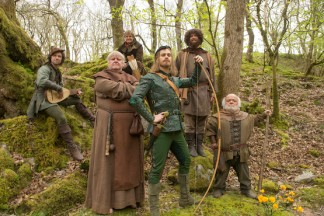 "Robin Hood and his Merry Men in ""Robot of Sherwood""."