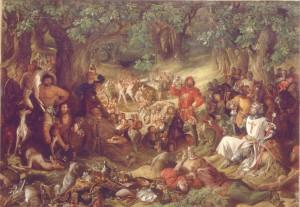 "Robin Hood, King Richard, Ivanhoe and the Merry Men in ""Ivanhoe"" (Source: Wikipedia)"