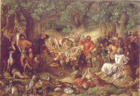 "Maclise - Scene from ""Ivanhoe"""