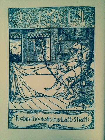 Robin Hood's Death in Howard Pyle's