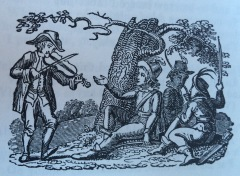 Robin, Little John, Will Scarlet, and Much the Miller's Son. Scanned image from Ritson, J. Robin Hood (1795).