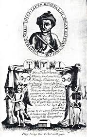 A ticket of admittance to the hanging of Mr. Jonathan Wild at Tyburn in 1725 [Source Wikipedia]