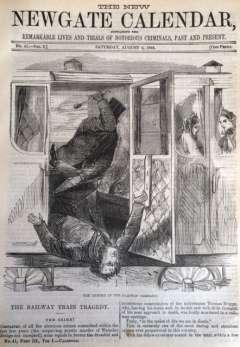 Anon. 'The Railway Train Tragedy'. The New Newgate Calendar, Vol. 1, No. 41 (1864). [Scanned Image].