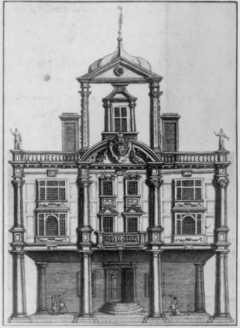 Facade of Dorset Gardens Theatre