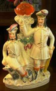 Robin Hood and Little John Staffordshire Figurine c.1860