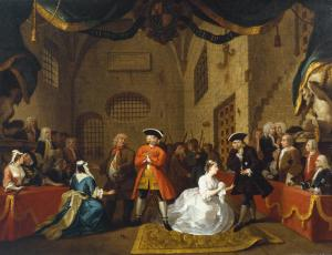 A Scene from 'The Beggar's Opera' VI 1731 William Hogarth 1697-1764 Purchased 1909 http://www.tate.org.uk/art/work/N02437