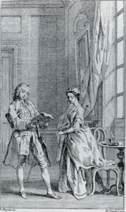 Frontispiece to Pamela, Vol. 1 (1740).