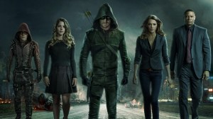 Arrow and his Companions. Arrow Series 3 Promo-Shoot