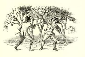 Thomas Bewick, 'Robin Hood and the Tanner' in Robin Hood: A Collection of All the Ancient Poems, Songs, and Ballads, 2 Vols. ed. by Joseph Ritson (London: T. Egerton, 1795).