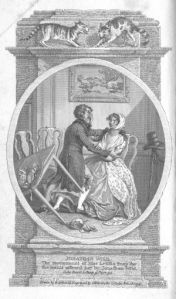 Jonathan Wild and Miss Letitia Snap (from the 1799 edition of Jonathan Wild)