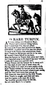 Broadside Ballad of O Rare Turpin from the Bodleian Library Broadside Ballads Archive