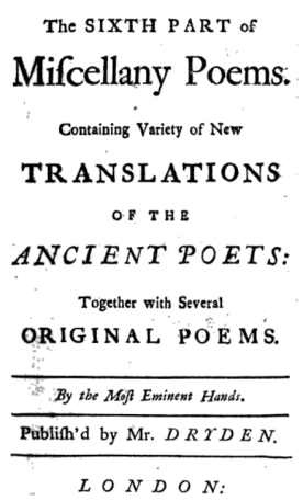 Miscellany title page