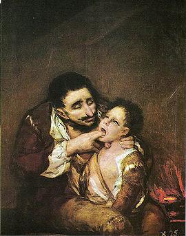 Goya's scene from Lazarillo de Tormes