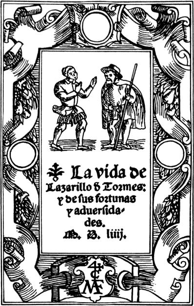 Title page to Lazarillo de Tormes