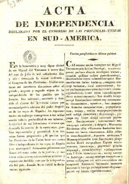 Acta_Independencia_argentina_quechua