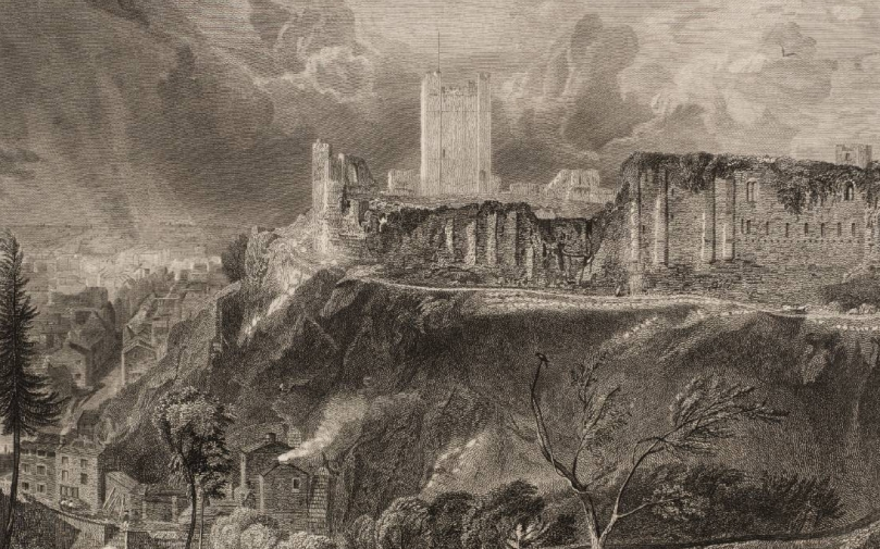 Richmond Castle and Town 1820 by Joseph Mallord William Turner 1775-1851