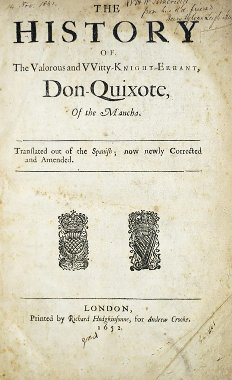 Title Page to Cervantes' Don Quixote