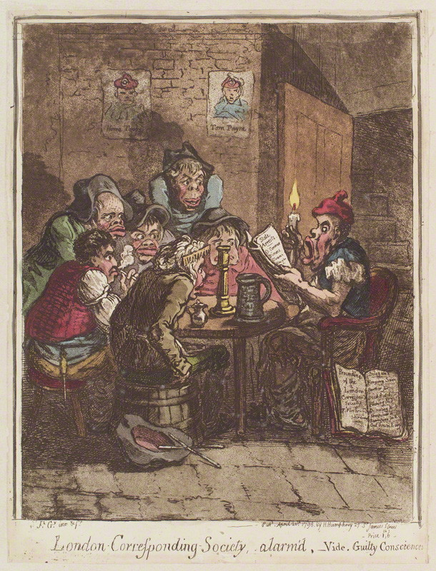 NPG D12634; 'London Corresponding Society, alarm'd' by James Gillray, published by  Hannah Humphrey